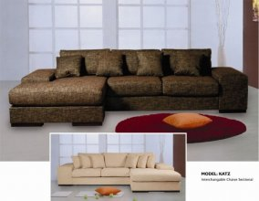 Katz modern sectional sofa