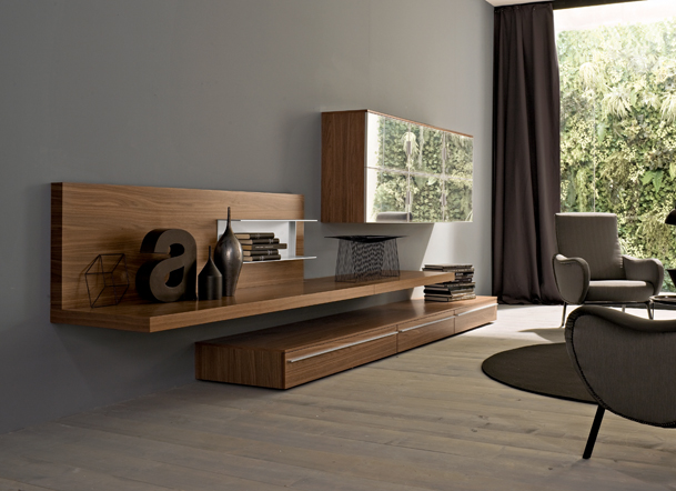Modern Wall Unit S-M327 - Click Image to Close
